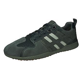 Geox U Snake 2 A Herren Wildleder Trainer / Sneakers - Grau