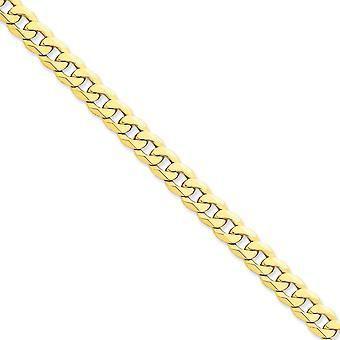 14k žlté zlato pevné leštené homára pazúr uzavretie 8 mm skosený obrubník reťaz Anklet 9 palcov Lobster pazúr šperky Darčeky pre