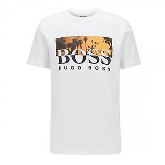 Boss Green Hugo Boss TSummer Graphic Logo T-Shirt White 50435831