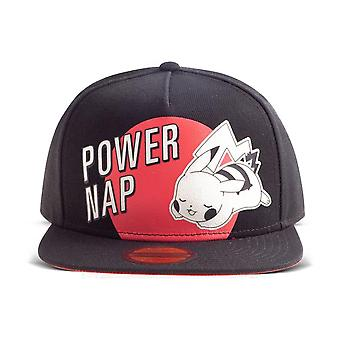 Pokemon Power Nap Pikachu Snapback Baseball Cap Unisex Black/Red (SB684361POK)
