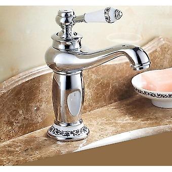新しいクロムバスルームの洗面器蛇口、キッチン蛇口シングルハンドルミキサータップ