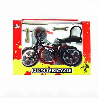 Cute Mini Finger Mountain Bike Bicycle Scooter Toy Game Suit Children Grownup Removable Bike Toy Christmas Gift (as The Picture)
