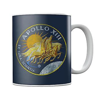 NASA Apollo 13 Mission Badge Distressed Mug