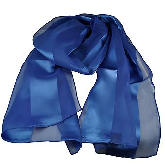 Ties Planet Royal Blue Satin Self-stripe Scarf