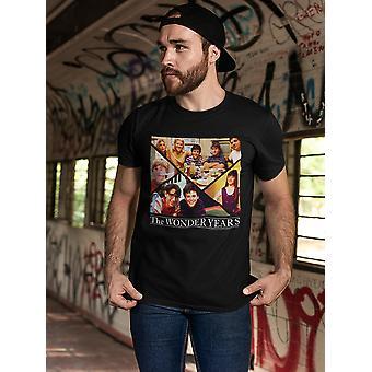 The Wonder Years Family Collage Men's Black T-shirt