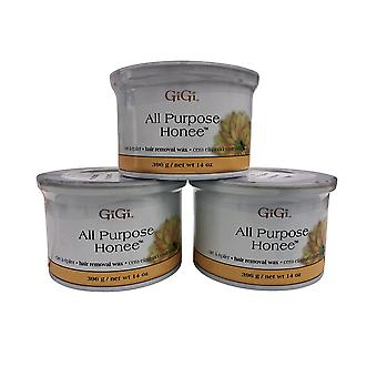 GiGi All Purpose Hard Wax 14 OZ Pack von 3