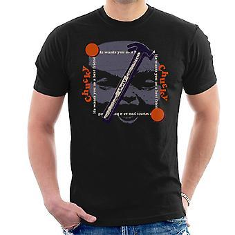 Chucky Best Friend Hammer Face Men's T-Shirt