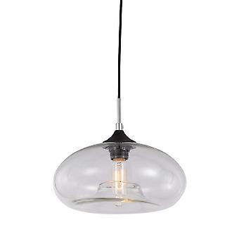 Italux Valio - Colgante industrial y retro colgante negro 1 luz con sombra clara, E27