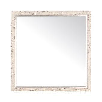 Silver And Cream Aspen Square Ou Diamond Wall Mirror 30'' X 30''