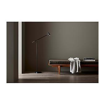 Lampe de plancher Cato en métal et noir mat