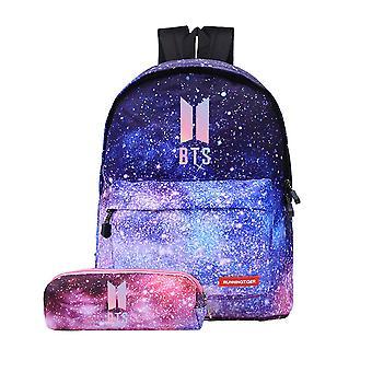 BTS tähti taivas värikäs lyijykynä laukku ja koululaukku