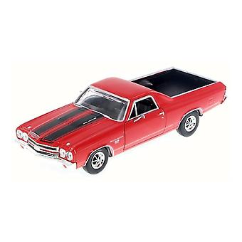 MotorMax 1970 Chevy EL Camino SS 396 Czerwony 1:24