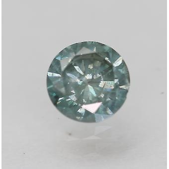 Cert 0.46 قيراط أزرق أخضر SI2 جولة رائعة المحسنة الماس الطبيعي 4.94mm