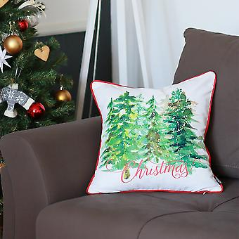Christmas Trees Throw Pillow Cover