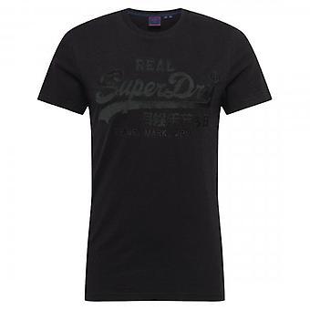 Superdry VL Broderie T-Shirt Noir 02A