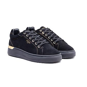 Mallet GRFTR Black & Gold Suede Trainers