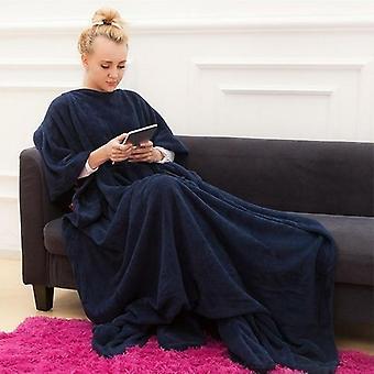 Winter Hooded Pocket Blankets Warm Soft Coral Tv Blanket
