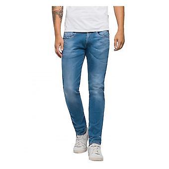 Replay Jeans Replay Hyperflex Slim Fit Anbass Laserblast Jean - Light Blue