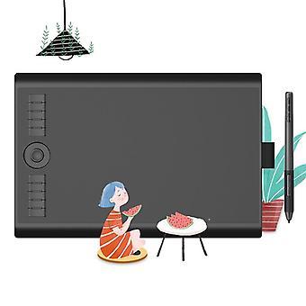 Placa de dibujo de la tableta de la pluma gráfica con el lápiz óptico libre de batería 8192,