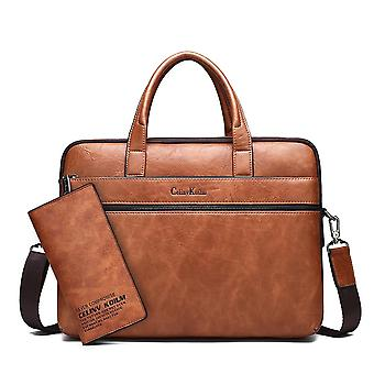 Leather Briefcase, Laptop Handbags & Shoulder Tote Bags