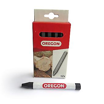 Oregon 295365 multi surface marking crayon - black (pack of 12)