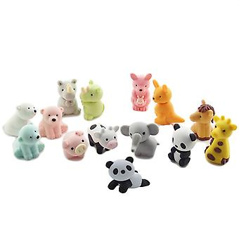 TRIXES Pack of 7 Cute Assorted Animal Erasers