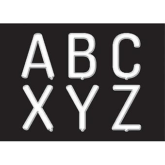 """Carta blanca tablero 2"""" letras mayúsculas pegatinas, 78 piezas"""