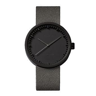 Leff Amsterdam LT72015 D42 Black Tube Wristwatch Cordura Strap
