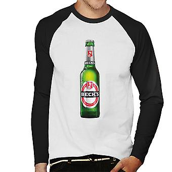 Beck's Bottle Men's Baseball Long Sleeved T-Shirt