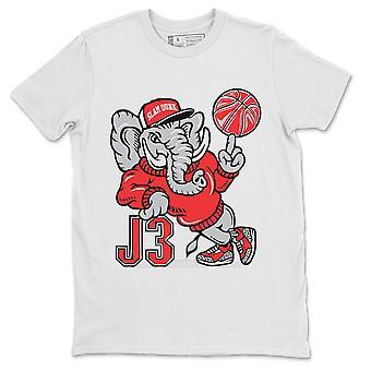 AJ3 الفيل الأبيض قميص الأردن 3 الرجعية SE اتحدوا النار أحذية رياضية حمراء الأعلى