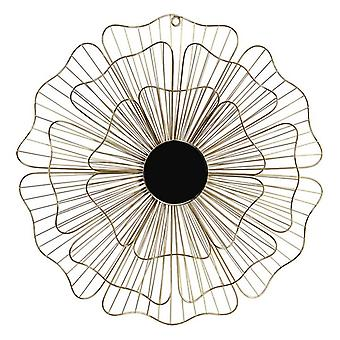 Wall Decoration Dekodonia Flower Metal Crystal Chic