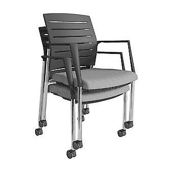 Simple Office Chair Armrest Training Chair With Writing Board Backrest Stool