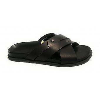 Men's Elite Ciabatta Crossband Shoes Cow Skin Col. Black Us18el22