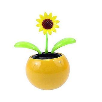 Solar Powered Dancing Flower Car Dashboard Swinging Toy