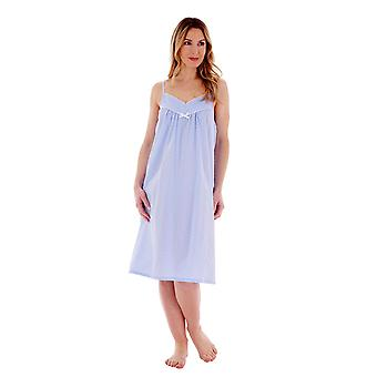Slenderella ND77230 Women's Spotted Cotton Chemise