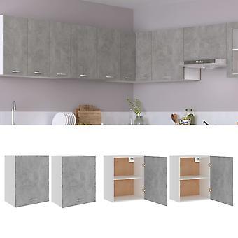 Hanging Cabinets 2 Pcs Concrete Grey 50x31x60 Cm Chipboard
