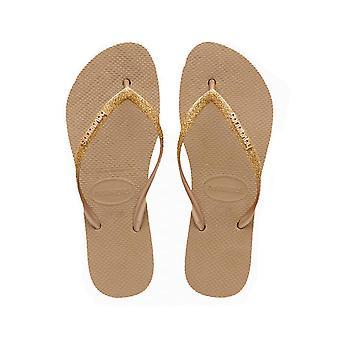Tongs femmes havaianas slim flatform glitter 4144764.3581