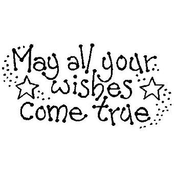 Wishes Come True Wood Mounted Stamp