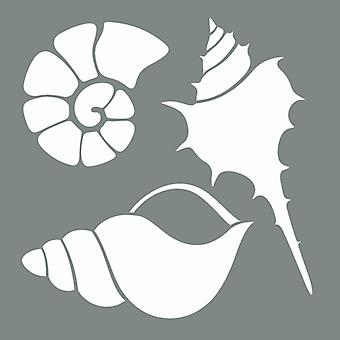 Decoart Stencil - Ocean Life Pack av 2