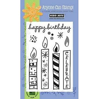 Hero Arts Big Candles Clear Stamp