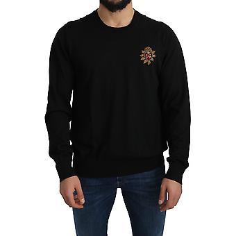 Dolce & Gabbana Schwarz Kaschmir DG Logo Pullover - TSH4577