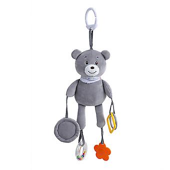 Rabbit Rattling Doll Cute Baby Hanging Toys With Mirror Teether For Children Soft Plush Rattle Toys Blue