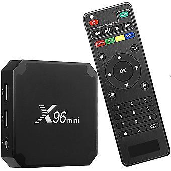 X96 ميني iptv الوسائط المتعددة تدفق الروبوت 9.0 مربع / 4K الترا HD واي فاي مربع التلفزيون مع Amlogic S905W رباعية النواة شرائح, 64 بت 2GB / 16GB, واي فاي, 4K HD, H.265, Cortex A53. (أسود)