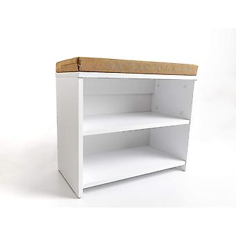 FengChun schuhschrank mit sitzbank, Weiss, schuhregal 30 x 60 x 53,5 cm, klein schuhregale,