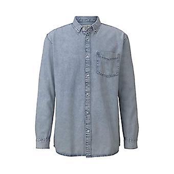 Tom Tailor Relaxed Denim Shirt T, 10143/Heavy Bleached Blue, M Men's