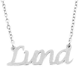 KL Luna, vrouwen ketting met naam, zilver, met naam, modieus juweel, cadeau voor vriendin, moeder, zus