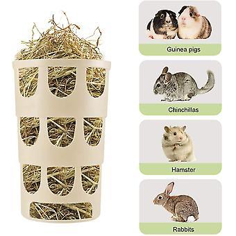 Futternapf Kaninchen, Kleintier Näpfe Heu Futtertower für Karotten Futterraufe, Heu Fütterung in