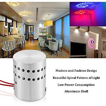1pcs 3w Wall Lamp Interior Aluminum Led Rgb Spiral Lamp Dimmable Light Colored With Remote Control Led Lamp
