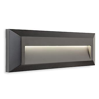 Firstlight Shine Utendørs Integrert LED Overflatemontert Vegg & Trinn Lys Rektangel Grafitt IP65