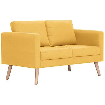 vidaXL sofá de 2 plazas tela amarilla